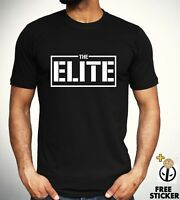 The Elite Bullet Club T-shirt Kenny Omega Japan Pro Wrestling Top Black Tee Mens