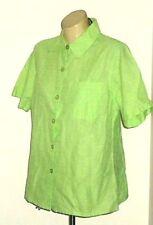 Short Sleeve Button Down Shirt Floral 100% Cotton Tops & Blouses for Women