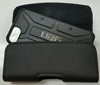 LEATHER BELT CLIP HOLSTER FOR iPHONE & SAMSUNG PHONES  FIT A UAG CASE ON PHONE