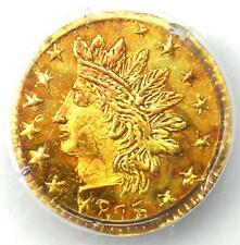 1875 Indian California Gold Quarter 25C Coin BG-878 - PCGS MS65 PL - $900 Value