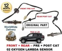 FOR TOYOTA RAV 4 1.8 2000-2006 FRONT & REAR POST PRE CAT OXYGEN LAMBDA SENSOR