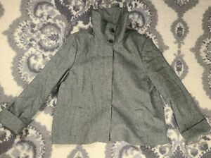 Talbots Herringbone Tweed Wool Jacket Womens Sz 14