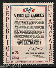 1964 -Timbre france Neuf** - L'Affiche De Gaulle - Liberation -  Stamp - Yt.1408