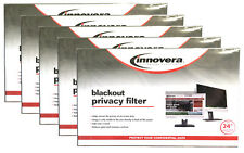 "(5) NEW! Innovera Blackout Privacy Filter for 24"" Widescreen Monitors 16:9"
