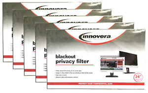 """(5) NEW! Innovera Blackout Privacy Filter for 24"""" Widescreen Monitors 16:9"""