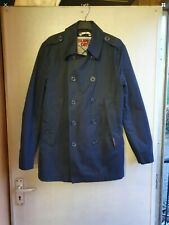 Mens Superdry Navy Rogue Jacket Trench Coat Small Celebrity