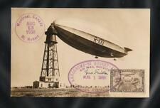 Canada 1930 Airship Zeppelin R100 Flight St Hubert Montreal - Bedford, Signed VF