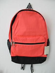 (1) NWT Victoria's Secret PINK Neon Coral Campus Backpack *FREE SHIP*