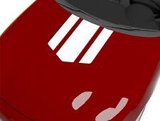 Aufkleber für Motorhaube Rennstreifen Weiß 65x55 cm Sport Tuning Sticker 254