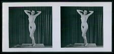 mm Hans Martin Stereoview photo stereo card nude woman pinup original old 1950s
