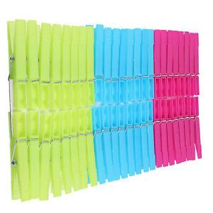 Wäscheklammern bunt aus Kunststoff Wäsche Clips Klammern robust 48-144 Stk.