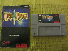 THE LORD OF THE RINGS    volume 1           -----   pour SUPER NINTENDO  // CART