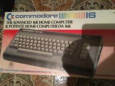 Commodore 16 funzionante, con scatola e registratore.