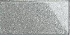 16 X Glitter Silver Glass Bathroom Kitchen Spashback Metro Wall Tiles MT0113