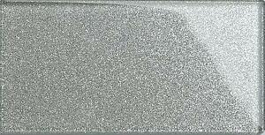 16 X Glitter Silver Glass Subway Wall Tiles 75x150x6mm (GTR10113)