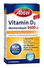 Abtei Vitamin D3 Forte 12 Tabletten Wochendepot 5600I.E.  PZN  10303552