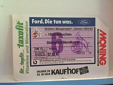Football Ticket - 1860 Munchen - Stehplatz Nordkurve - 1995 UEFA