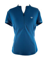 PEARL iZUMi Women's Blue Short Sleeve Half Zip Cycling Shirt Size Small