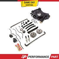 Timing Chain Kit Selenoid Cam Phaser Oil Pump for 04-10 Ford 5.4 TRITON 3 Valve