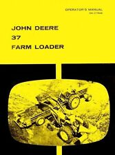 John Deere 37 Farm Loader For 1020 2020 2510 Tractor Operators Manual Jd