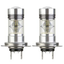 2x H7 100W 1800LM Cree LED Fog DRL Tail Driving Car Head Light Lamp Bulbs White