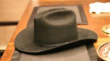 "Vintage ~6 3/4"" 'Beaver Hats' Cowboy Beaver Fur Felt Hat Raw Edge"