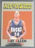 Ray Allen 2000-01 TOPPS HERITAGE CHROME Retrofractors 91/272 #19 Bucks SSP