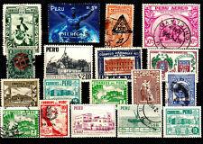 Einsteckkarte mit älteren Marken aus ***  PERU ***