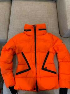 Moncler Grenoble Dixence Fitted Down Ski Jacket Orange Size 1= Small