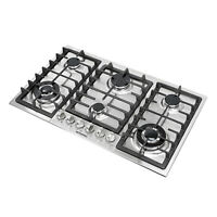 """Top 34"""" Stainless Steel Built-In 6 Burners Stoves Cooktop NG LPG Gas Hob Cooker~"""