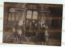 OLD CHINESE PHOTO JAPANESE SOLDIERS & BICYCLES TIENTSIN / TIANJIN CHINA C.1900