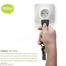 QUALY Living Style Design Unplug Key Ring Keyring Holder BLACK ~ FREE SHIPPING ~
