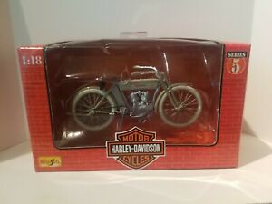 Maisto 1:18 Scale Harley Davidson Collectibles 1909 Twin 5D V-Twin Die Cast Bike