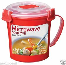 Sistema Red Klip It Microwave Soup To Go Mug 656ml  ,LIMITED STOCK , ORDER SOON