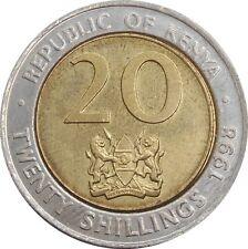 Kenya 20 Shillings 1998 KM#32 Arap Moi (3421) bimetal coin
