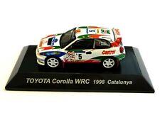 WOW EXTREMELY RARE Toyota Corolla WRC #5 Sainz Catalunya 1998 1:64 CM's Kyosho