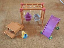 Fisher Price Loving Family Dollhouse Outdoor Furniture Swing Set Slide Children