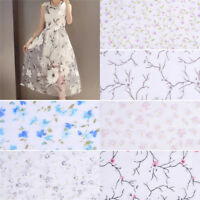 25x280cm Flower Floral Fabric Sewing Mesh DIY Sewing Wedding Dress Material Deco