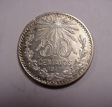"1917 Mexican 50 Centavo  ""SILVER""  Coin from Mexico"