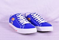 Unisex Row One NCAA Kansas Jayhawks Logo Low Top Lace Up Shoes, Blue,