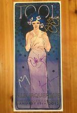 Tool Band Autographed Tour Poster 2012 Korin Faught Art Albuquerque Adam Jones