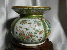 "RARE Antique Genuine Famille Rose Porcelain Spitton 7"" x 8""  VT3796"