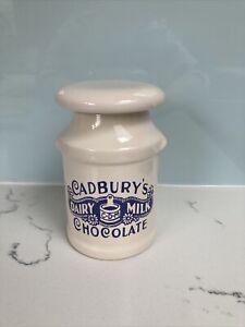 Vintage style Cadbury Chocolate Ceramic Churn Jar