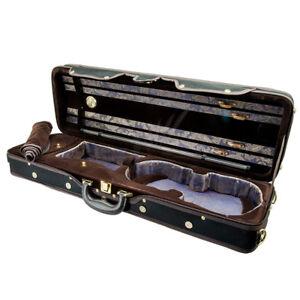 Paititi Violin Oblong Case VNCQF28 Lightweight with Hygrometer Black/Black Khaki