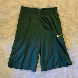 NWT Men's Nike Oregon Ducks Basketball Shorts M Stitched Team Issued Green
