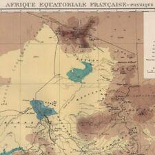 Afrique équatoriale Française physique  -- Carte ancienne 1938