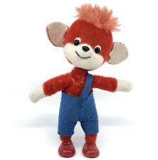Schuco Fix und Fox Red Mohair Plush Foxi Character 15cm 6in Bigo Fix Bendy Vtg