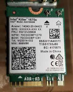 Killer Wi-Fi 6E AX1675x Tri Band AX210 M.2 2230 Bluetooth 5.2 WiFi Card
