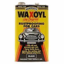 Hammerite Waxoyl Wax Oil Rustproofing Black 5 Litre Refill Corrosion Inhibitors