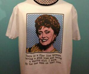 Golden Girls Inspired T-Shirt -  Rue McClanahan / Blanche - Slut Quote Pop Art